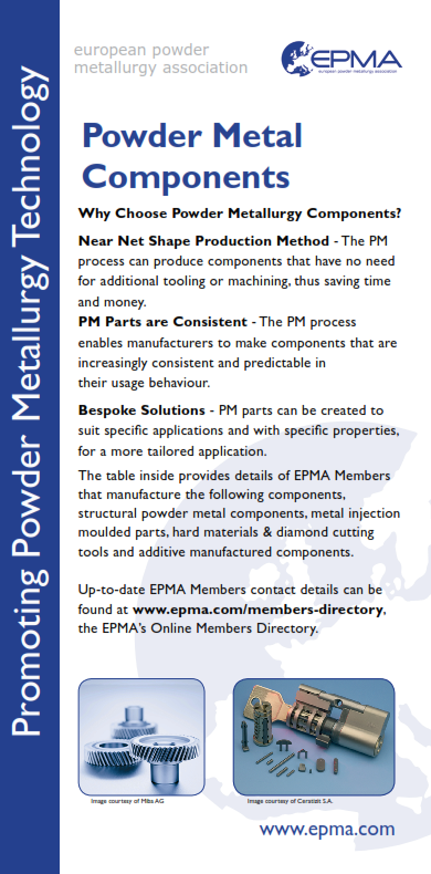 EPMA Member Guide to Powder Metallurgy Components Producers 2016