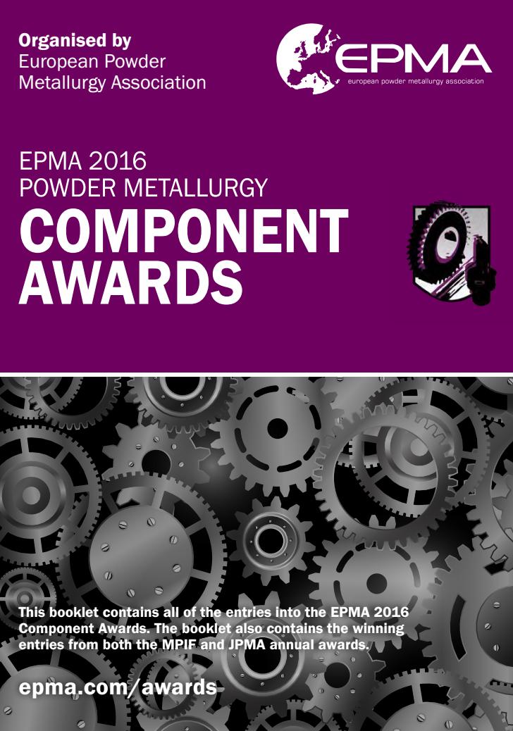 EPMA PM Component Awards 2016