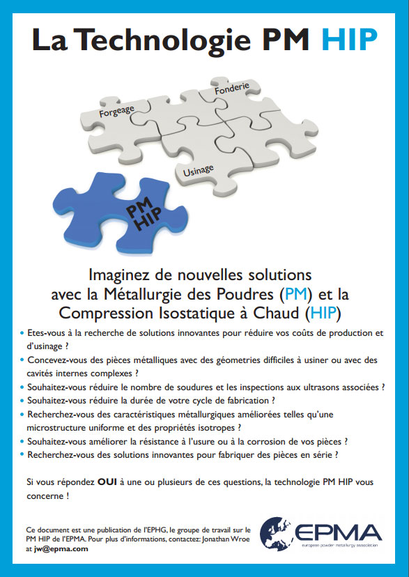 Hot Isostatic Pressing Technology (Leaflet) (French)