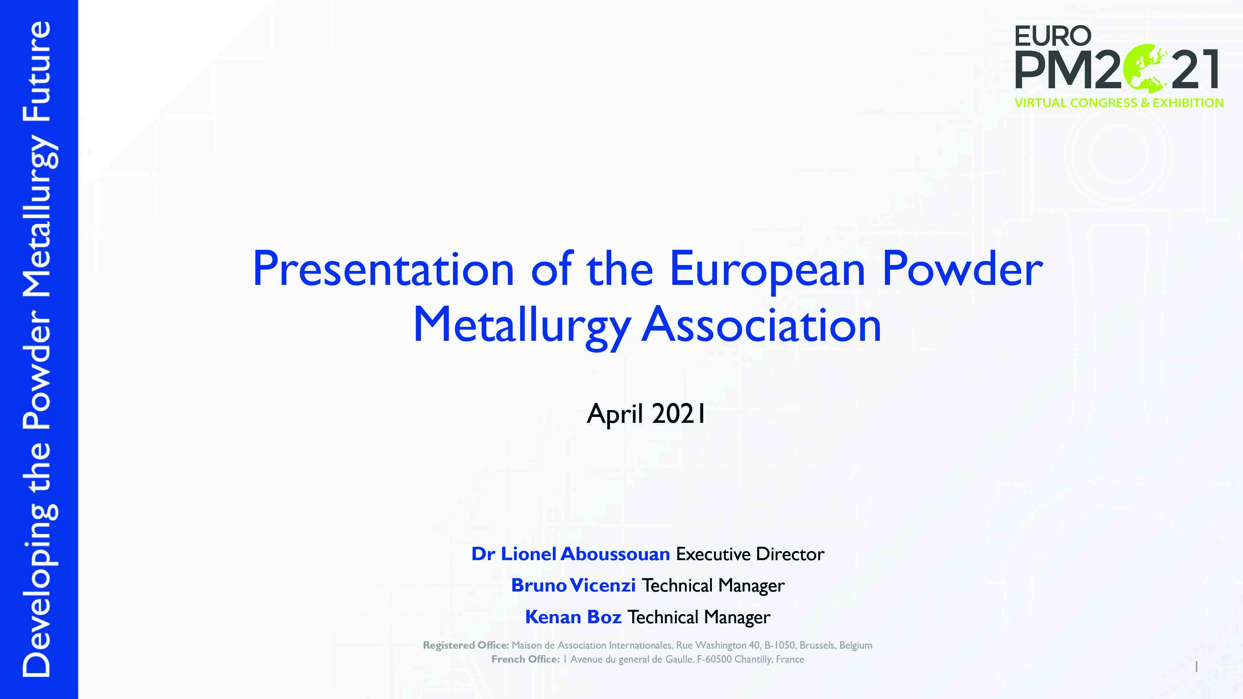 EPMA Presentation front page