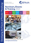 EPMA Seminars, Events and Training Brochure 2020