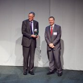 John Dunkley being presented the Distinguished Service Award for 2012