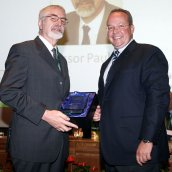 Prof Paul Beiss, of RWTH Aachen presented by the EPMA President Mr Ingo Cremer