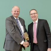 Mr Thomas Lambrecht from Dorst Technologies, with EPMA President Mr Philippe Gundermann
