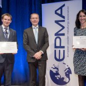 Thesis competition winners for 2016 with EPMA president Philippe Gundermann