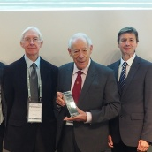 Lifetime Service Award in the Hardmetal Industry - EurIng Kenneth J A Brookes with the EuroHM
