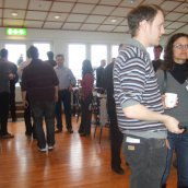 Coffee break during the 2013 Sintering Short Course in Vienna
