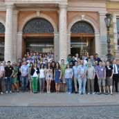 Summer School participants on the steps of the Department of Sociology - 2013 PM Summer School, University of Trento, Italy